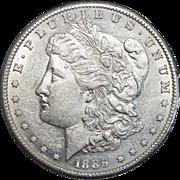1889-S AU55 Morgan Dollar