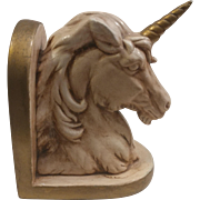 Ceramic Unicorn Bookend