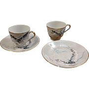 Pair of Dragonware Cups and Saucers