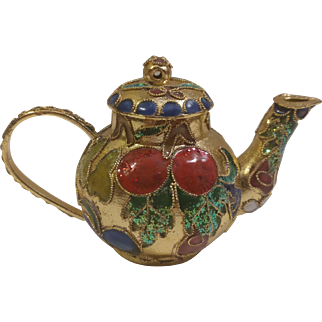 Glass Teapot Christmas Ornament