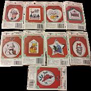 9 New Berlin Cross Stitch Christmas Ornaments