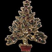 Goldtone Christmas Tree Brooch