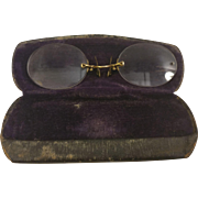 Pince Nez Eyeglass and Celluloid Case