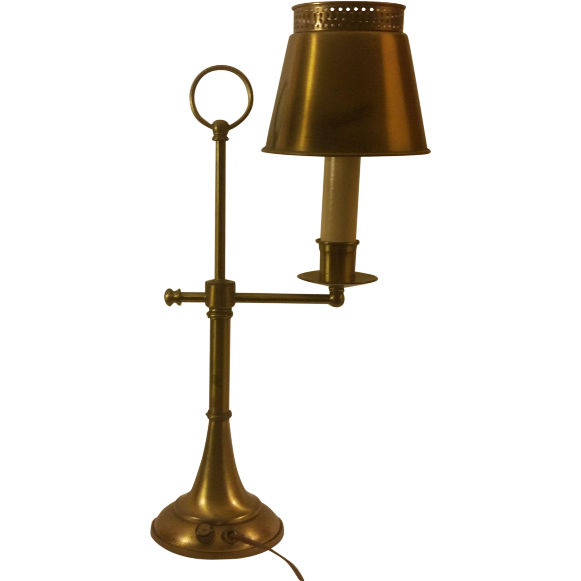 Bronze Tole Student Desk Lamp from second time around on