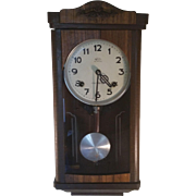 Vintage Wall Clock from Crownfan Marked N.H.T.