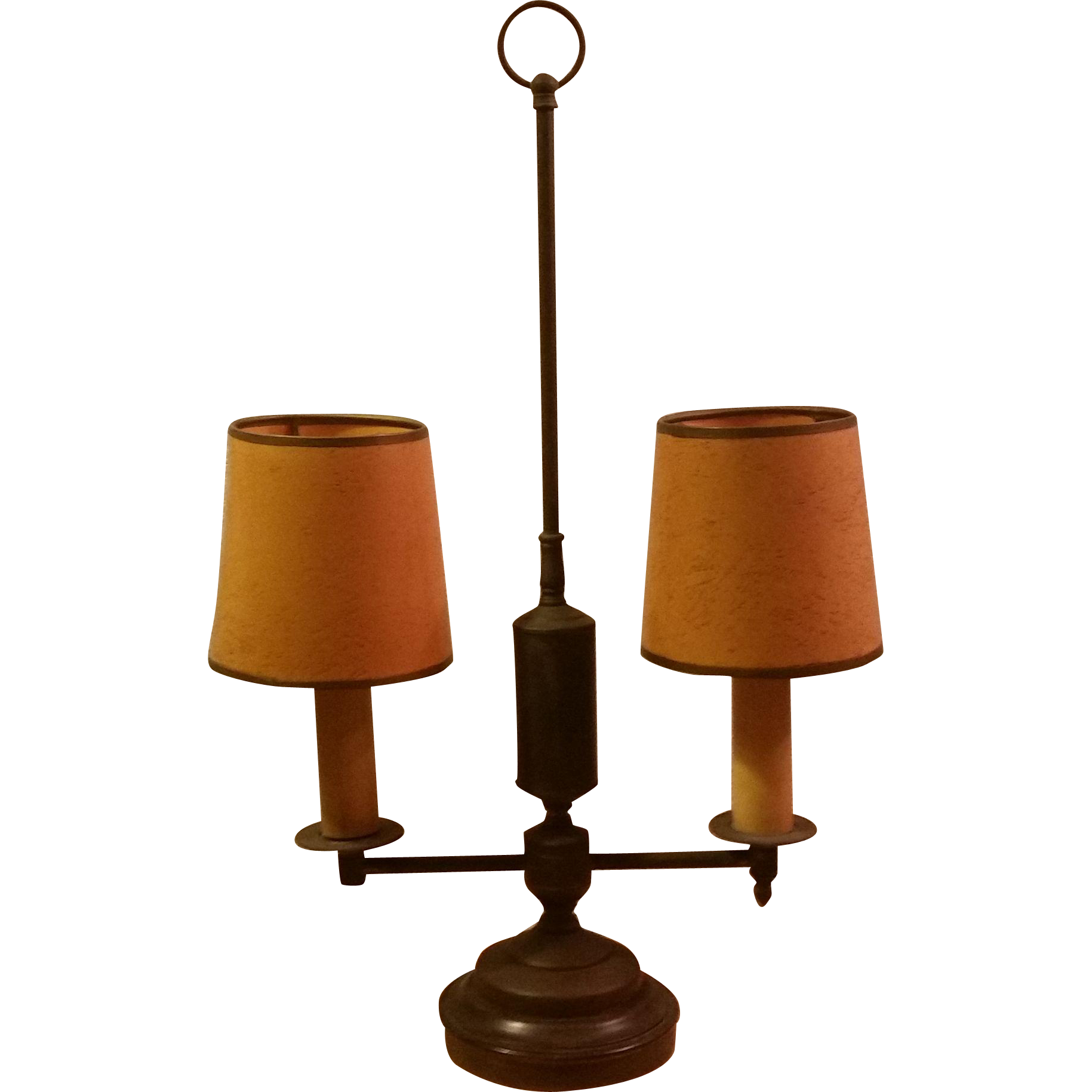 Vintage Two Light Candlestick Desk Lamp from second time
