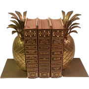 Vintage Pair Brass Pineapple Bookends