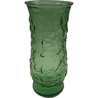 E. O. Brody Co. Green Glass Vase