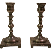 Pair of Vintage Footed Silverplate Made in England Candlesticks