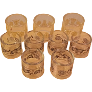 Corning Pyrex Set of 9 Napkin Rings