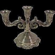 Vintage Ornate Silverplate 3 Arm Candelabra