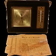 Vintage Leather Bound Barometer Made in Western Germany