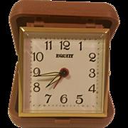 Vintage Equity Spring Wound Travel Alarm Clock