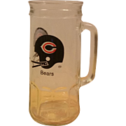 Fisher Nuts Chicago Bears Beer Soda Mug