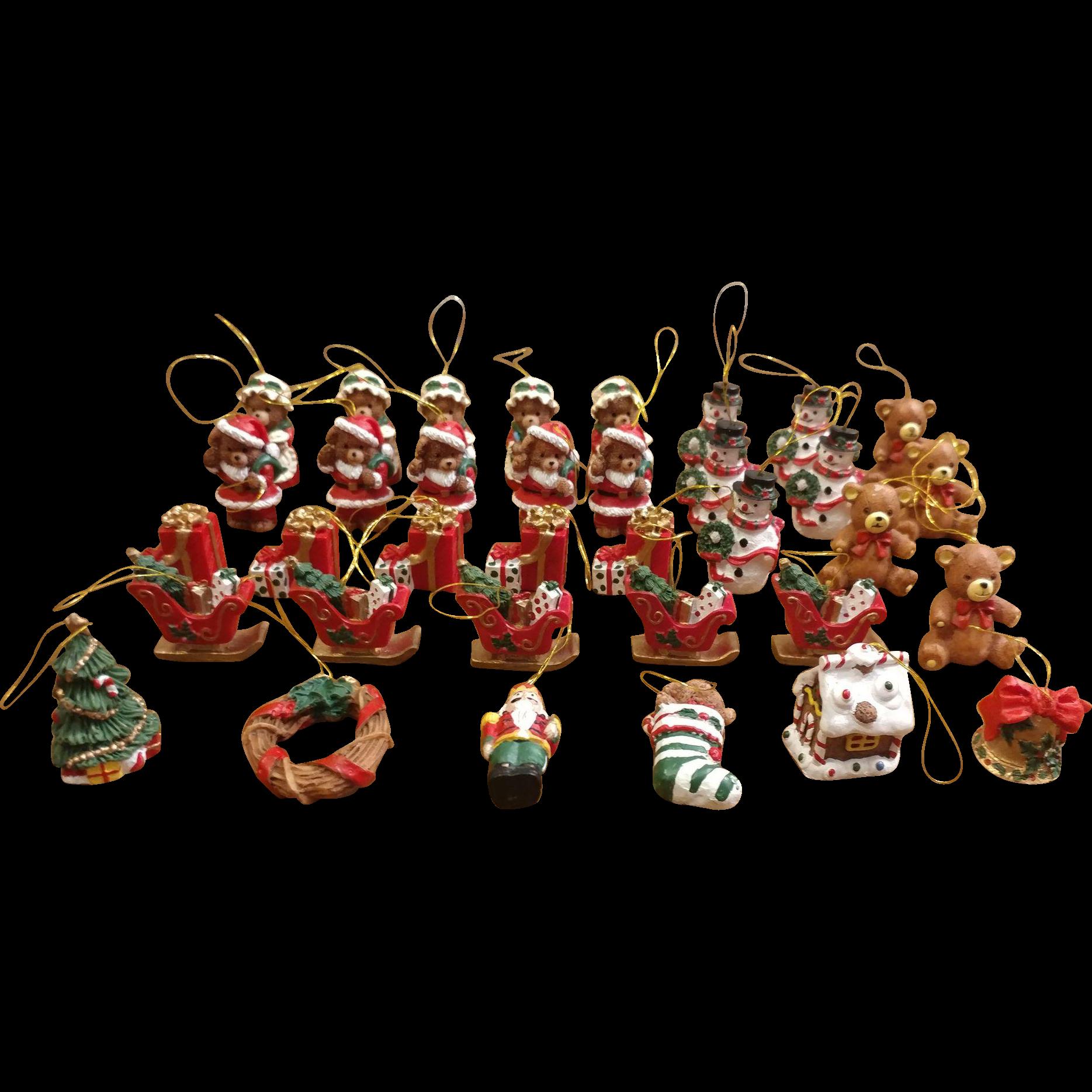 Christmas Lights Shop Charnock Richard: 35 Miniature Resin Christmas Ornaments : Second Time