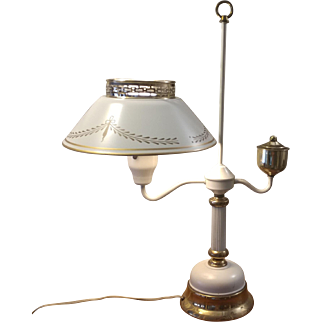 French Tole Student Desk Lamp