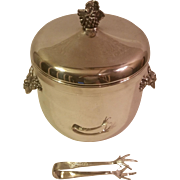 Gorham Silverplate Ice Bucket and Claw Tongs - Red Tag Sale Item