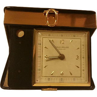 Travel Alarm Clock with Leather Case