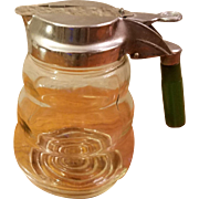 Glass Honey Syrup Dispenser