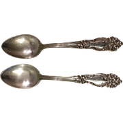 Pair of 1901 Reed & Barton Tiger Lily Teaspoons