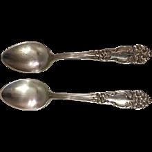 Pair of 1901 Reed & Barton Tiger Lily Teaspoons