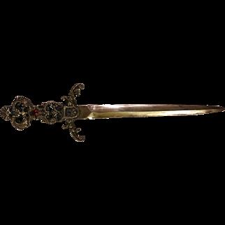 Ornate Dagger Sword Letter Opener