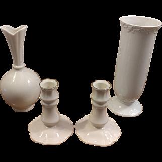 Lenox Candleholders and Vase