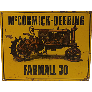 Vintage Mccormick-Deering Farmall 30 Tractor Sign