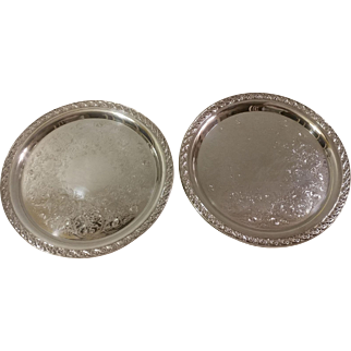 F. B. Rogers Spring Flower Silverplate Trays