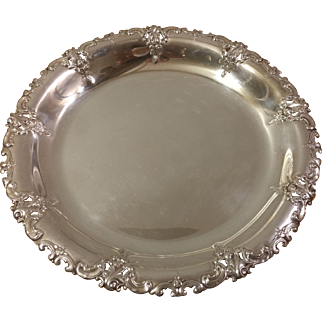 Wallace Sterling Silver Grand Baroque Serving Tray