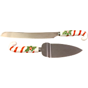 Holly Berry Cake Knife and Cake Pie Server