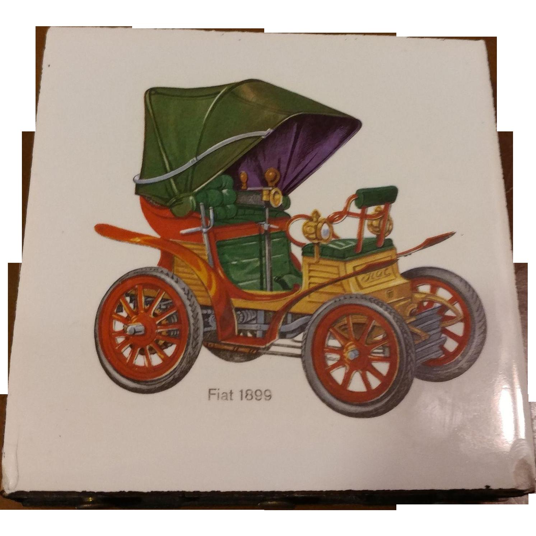 Vintage Ceramic Tile 6 Drawer Match Holder from second