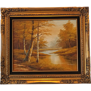 Phillip Cantrell Landscape Framed Oil Painting