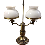 Vintage Double Arm Student Lamp