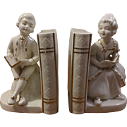 Porcelain Colonial Figurine Bookends
