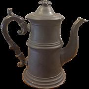 Antique Pewter Coffee Pot