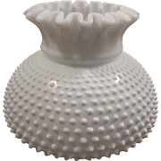 Milk Glass Hobnail Student Fitter Lamp Shade