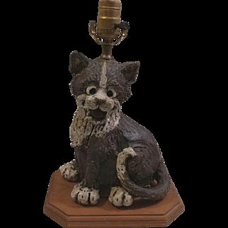 Resin Cat Lamp