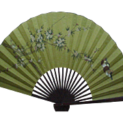 Chinese Traditional Deco Wall Fan - Large Bamboo & Paper