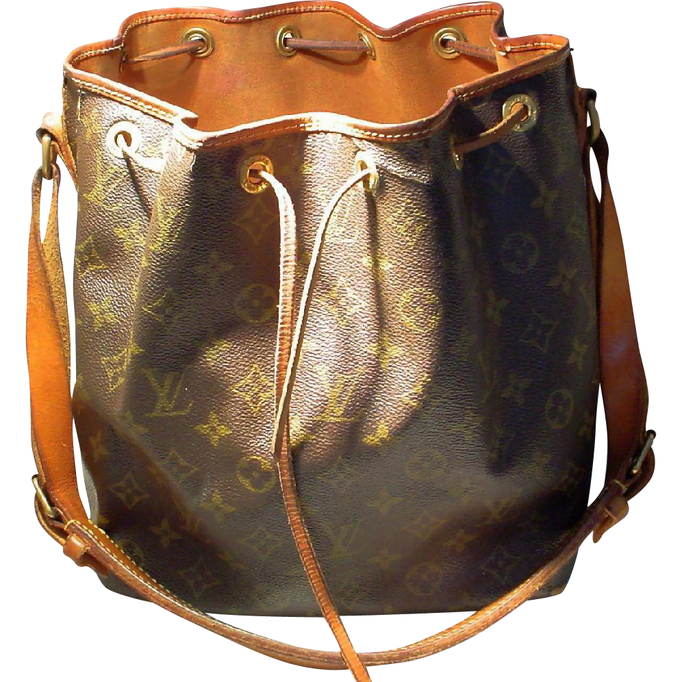 vintage louis vuitton monogram petit noe shoulder bag pvc tan from doraydesigns on ruby lane. Black Bedroom Furniture Sets. Home Design Ideas