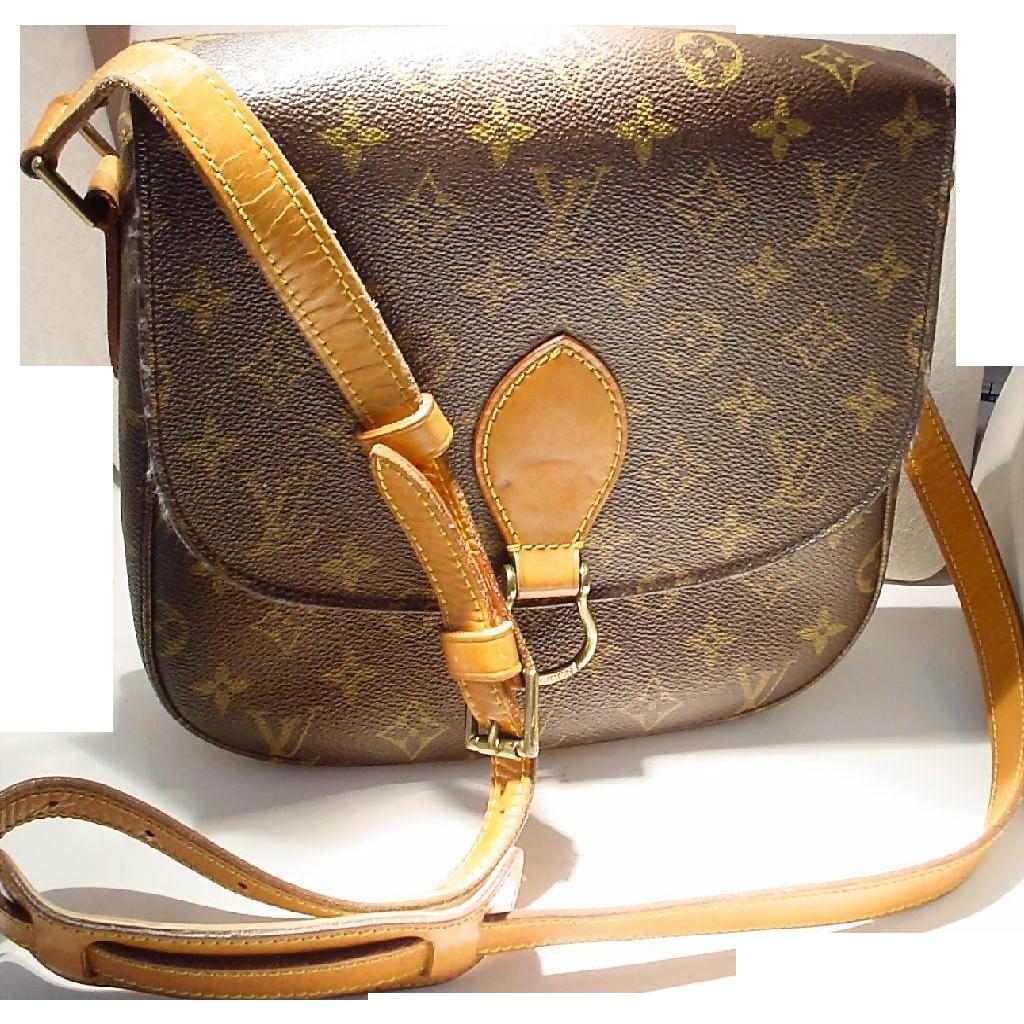 Vintage Louis Vuitton Saint Cloud Mm Shoulder Bag Monogram Canvas Doray Gems Ruby Lane