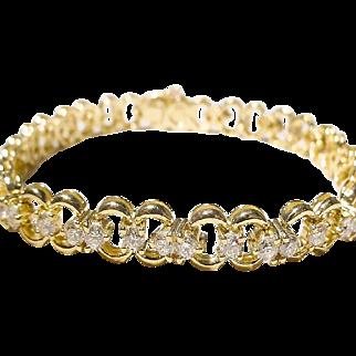 Garlands Links Diamond Bracelet 18KT Y-Gold - Brilliant Diamonds of 3.28 Carats