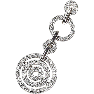 Dreamy Pendant /Slide Diamond 18K W-Gold - Circles of Diamonds