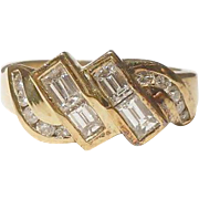 Stunning Diamond Band 18 KT Yellow Gold - Vintage