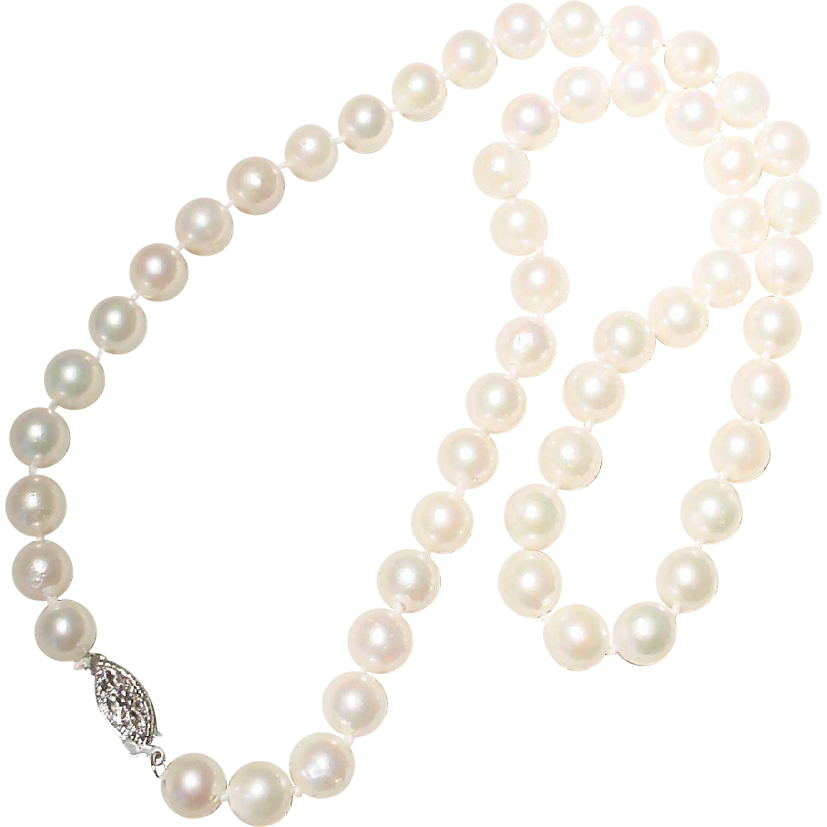 akoya cultured pearl necklace 14kt white gold