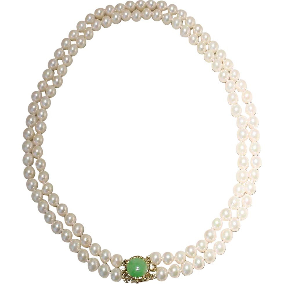 cultured akoya pearl necklace with 14kt yellow gold and