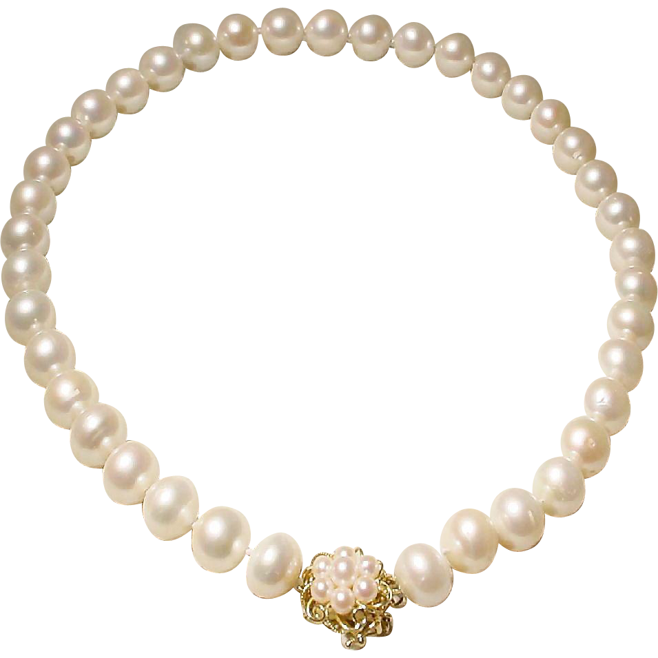 Magnificent Beloved Pearls South Sea Pearl Necklace 14kt Gold & Pearl Clasp   Classic White 125 Mm 185