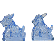 Moonlight Blue Commemorative Scottie Dog Bookends