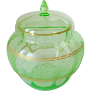 Cambridge Glass Light Emerald Ginger Jar