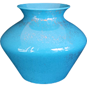 Cambridge Azurite Gold-sponged Vase